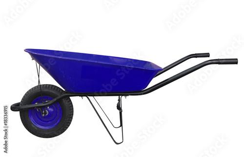 Leinwand Poster Blue Wheelbarrow
