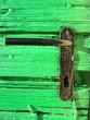 Leinwanddruck Bild - old lock