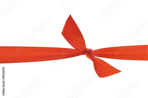 Fotografía  Red ribbon with knot.