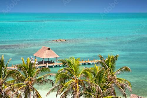 Fotografie, Obraz  Isla Contoy, Mexico, bird eye view