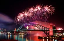 Sydney Harbour Bridge And Fire...
