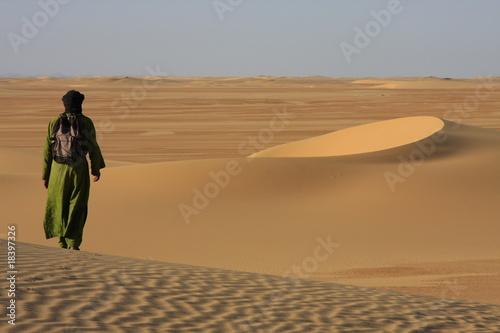 Poster Algérie Dunes d'Algérie avec Touareg