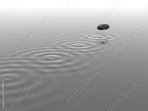 Fototapety, obrazy: Kieselstein springend