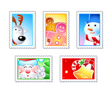 Christmas Stamps With Rudolf, ...