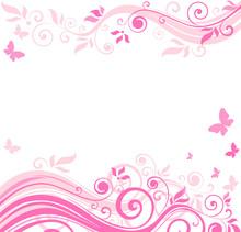 Floral Pink Border