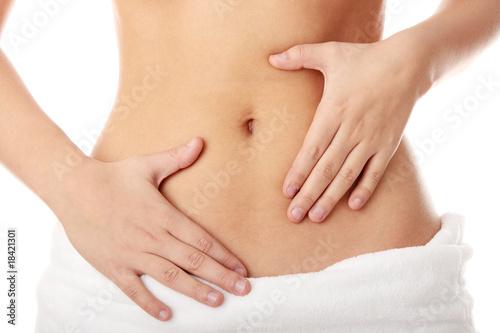Obraz Hand on belly - fototapety do salonu