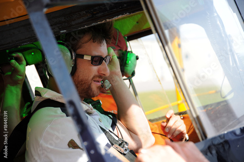 Fotografie, Obraz  Two pilots testing the radio (1)