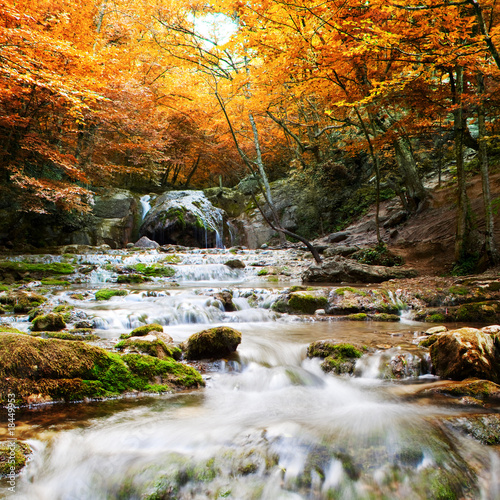 Foto op Plexiglas Landschappen Natural autumn Waterfall