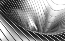 Abstract Aluminum Wave Pattern