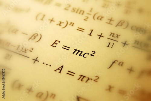 Photo  Einstein formula of relativity