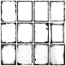Grunge Frames, Corners, Backgr...