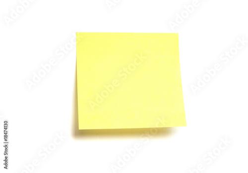 Fotografia  Yellow post-it isolated on white