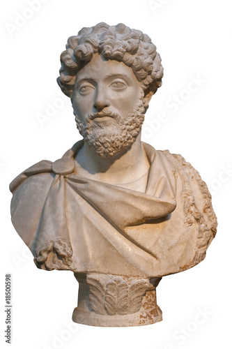 Photo Marble bust of the roman emperor Marcus Aurelius
