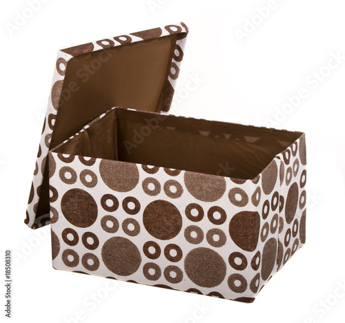 Fancy Open Gift Box Over White Background Buy This Stock