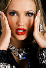 Glamorous Lady Face Portrait