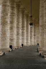 Fototapeta The Colonnade by St. Peter's Basilica, Vatican, Rome, Italy