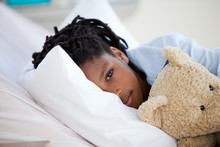 Young African American Boy In Hospital