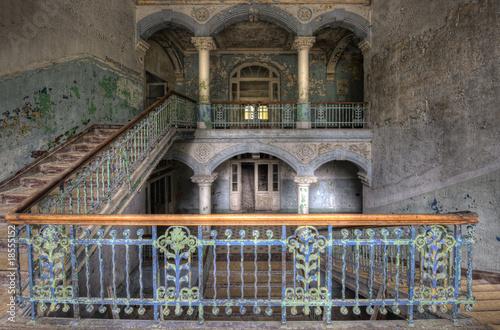 Photo sur Toile Ancien hôpital Beelitz old floor
