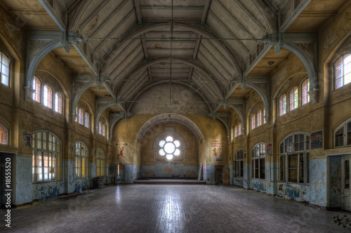 Photo Stands Old Hospital Beelitz old sports hall
