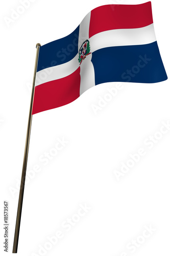 bandera republica dominicana Canvas Print