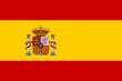 canvas print picture - Spanien Flagge/Fahne