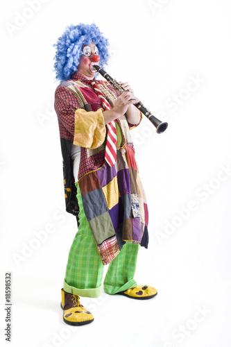 Fotografia clown and clarinet