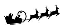 Silhouette Illustration Santa ...