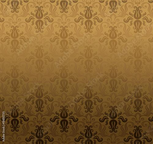 Luxury brown ornamental pattern