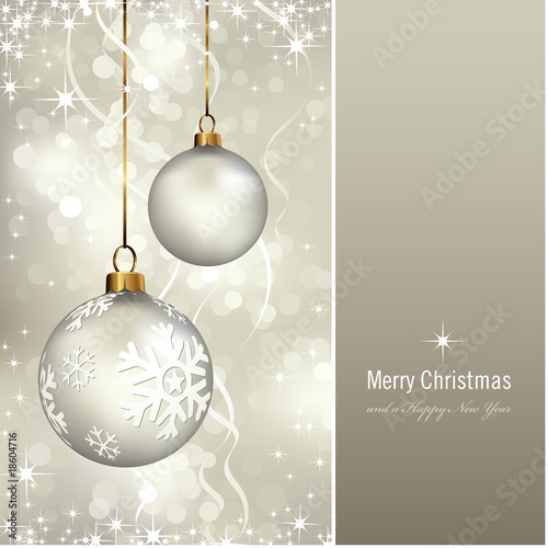 christmas card (background behind the panel is complete) плакат