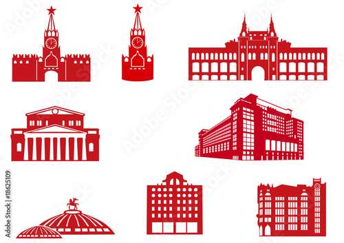 Photo  Moscow Buildings Icons