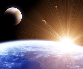 Fototapeta kosmiczny flare