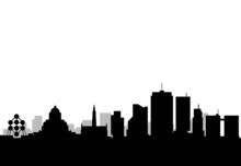 Brussels City Skyline Vector