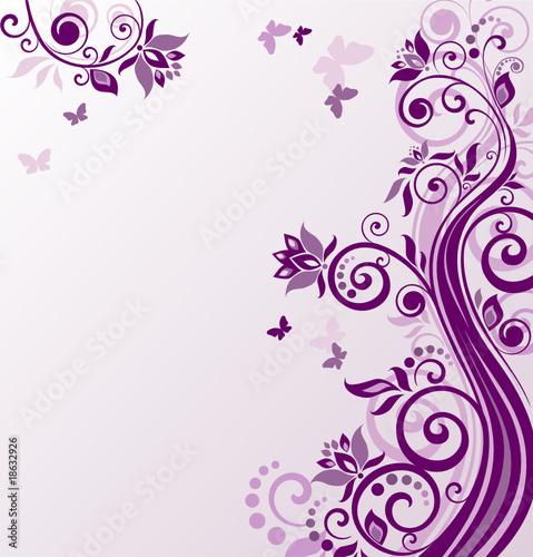 Doppelrollo mit Motiv - Floral violet background (von Eva105)