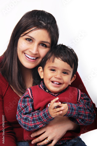 Fotografie, Obraz  Happy Mom & Child