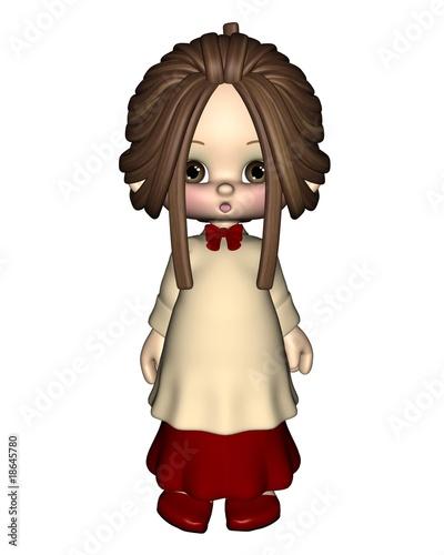 Christmas Carol Singers Figurines.Cute Toon Christmas Carol Singer Or Choir Girl Buy This