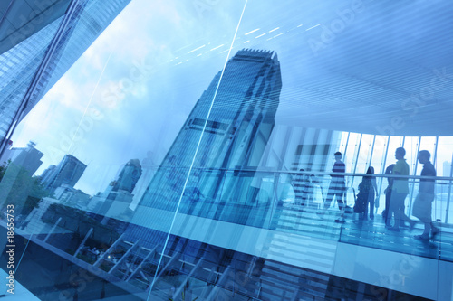 Abstract modern city background