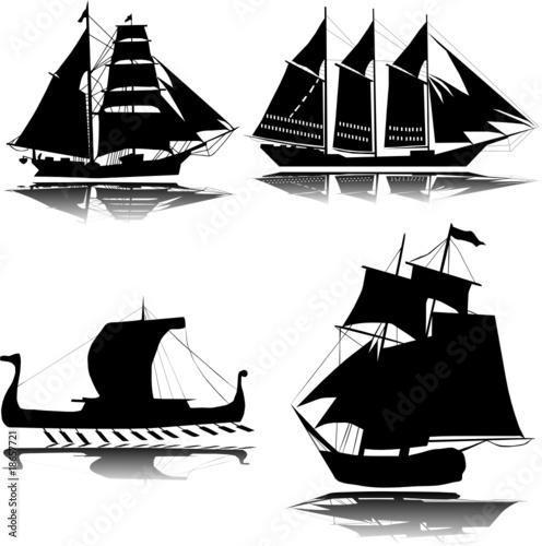In de dag Schip Old ship vector