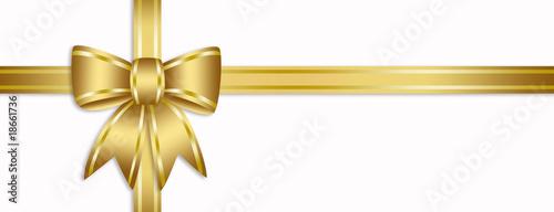 Golden ribbon Obraz na płótnie