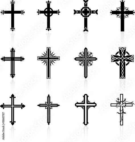Fotografie, Obraz  religious cross design collection