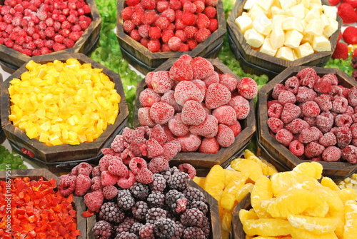 Obst und Gemüse tiefgefroren