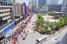 China Shanghai Pedestrian Nanjing Road