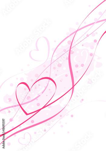 Fototapeta serpentine pink heart obraz