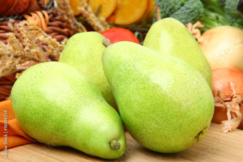 Anjou Pears in Kitchen Canvas Print