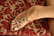 Close Up Shot Of A Woman Foot ...