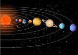 Fototapeta Kosmos - Solar system