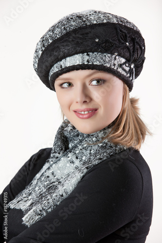 Poster Gypsy Young Woman In Fashionable Clothing