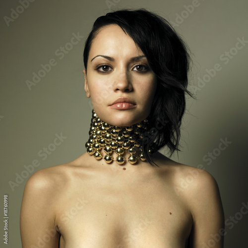 Woman with modern jewelry