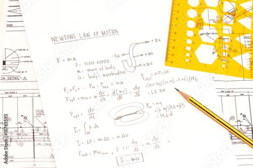 Fotografie, Obraz Newton's law of motion