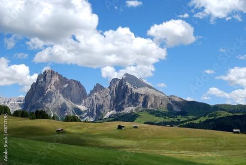 Tuinposter Alpen sassolungo e sassopiatto