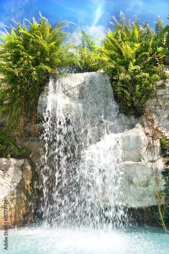 Mountain waterfall in malaysia rainforest.Langkawi. - 18779776